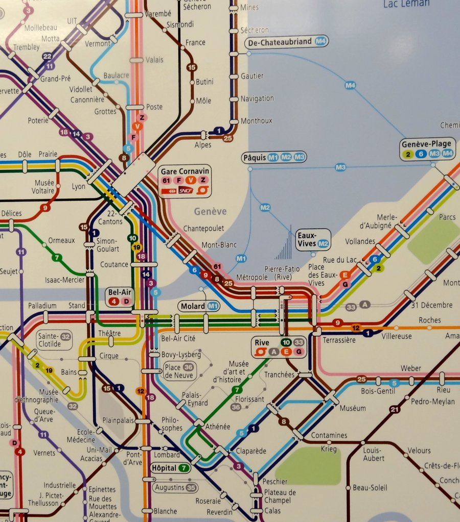 Geneva Public Transport Map Genevainfo